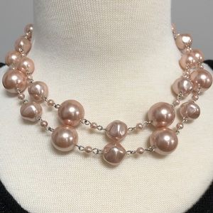 Jewelry - Double Strand Pink Pearl Necklace